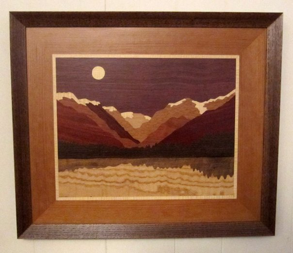 LB105 - Marquetry Landscape - Fall River Canyon