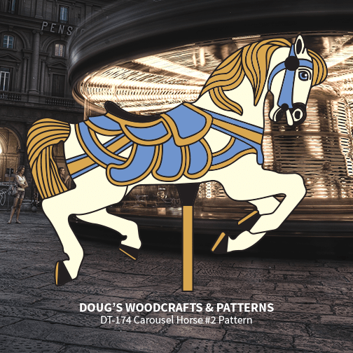 DT-174 Carousel Horse Pattern
