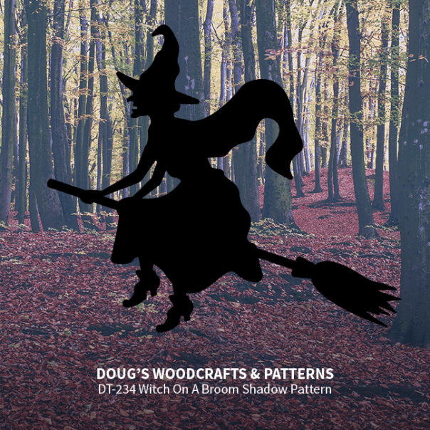 DT-234 Witch On A Broom Shadow Pattern