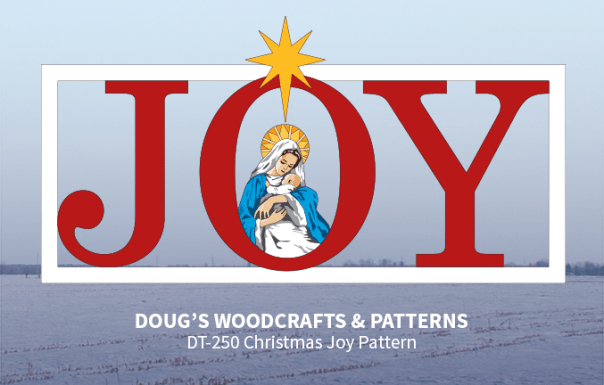 DT-250 Christmas Joy Yard Sign  Pattern