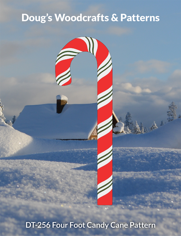 DT-256 Four Foot Candy Cane Pattern