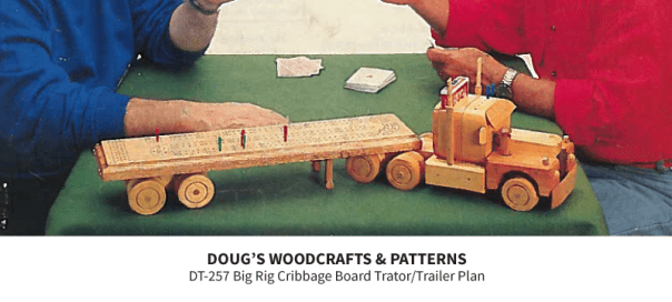 DT-257 Big Rig Cribbage Board Tractor/Trailer Plan