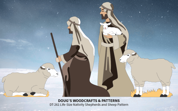 DT-261 Life-Size Nativity - Shepherds & Sheep Pattern