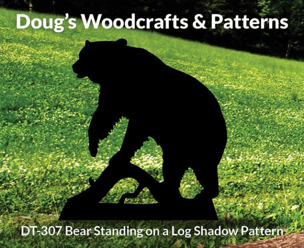 DT-307 Bear StandingOn a Log ShadowPattern