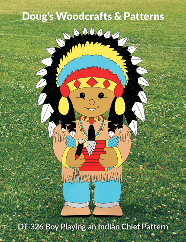 DT-326 Boy Playing an Indian Chief Pattern