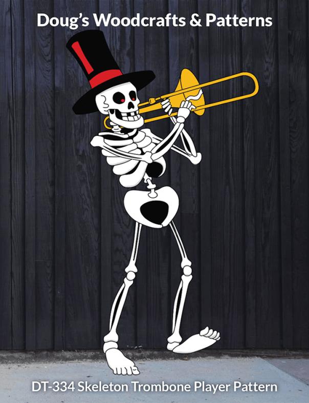 DT-334 Skeleton Trombone Player Pattern