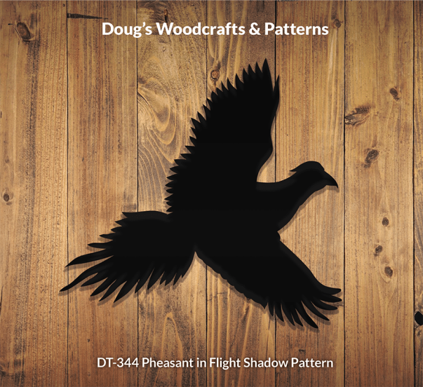 DT-344 PHEASANT IN FLIGHT SHADOW PATTERN