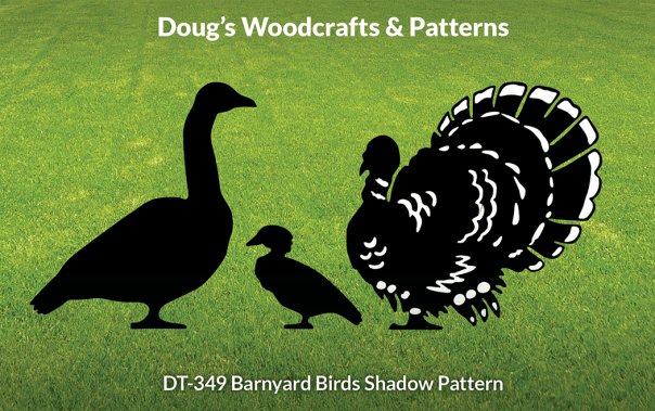 DT-349 Barnyard Birds Shadow Patterns