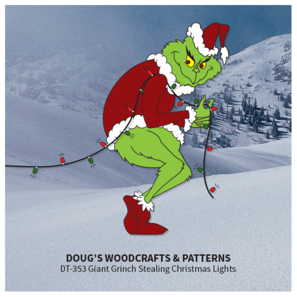 DT-353 Giant (6 Foot) Grinch Stealing ChristmasLights