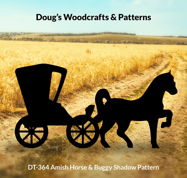 DT-364 Amish Horse & Buggy Shadow Pattern