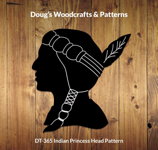 DT-365 Indian Princess Head Pattern