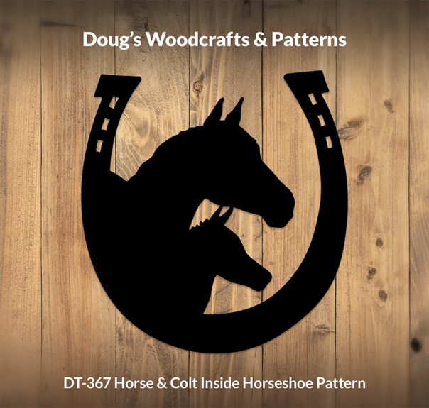 DT-367 Horse & Colt Inside Horseshoe Pattern