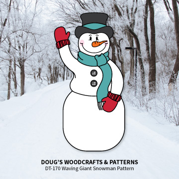 DT-170 Waving Snowman Pattern