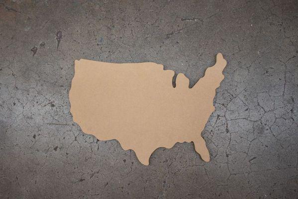 Small United States USA Cutout
