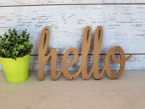 cursive hello sign