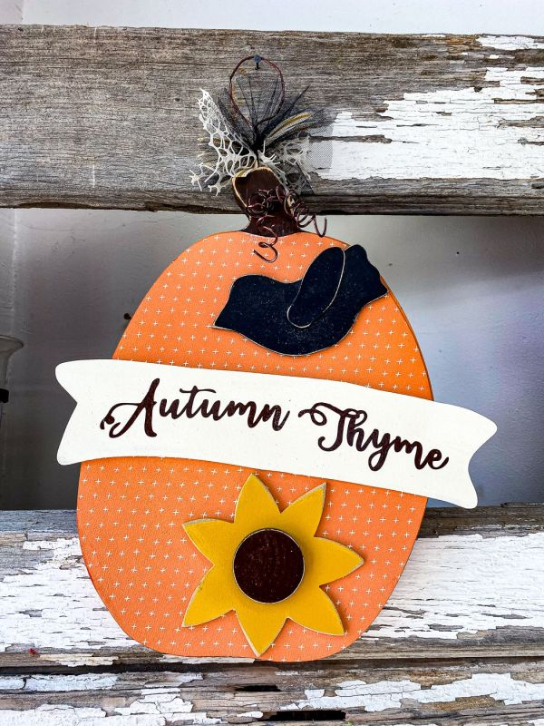 Autumn Thyme Hanging Wooden Sign