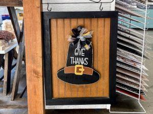 Thanksgiving Pilgrim Hat Give Thanks