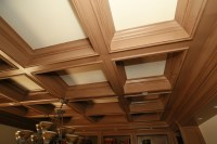 Coffered Wood Ceiling - Home Design