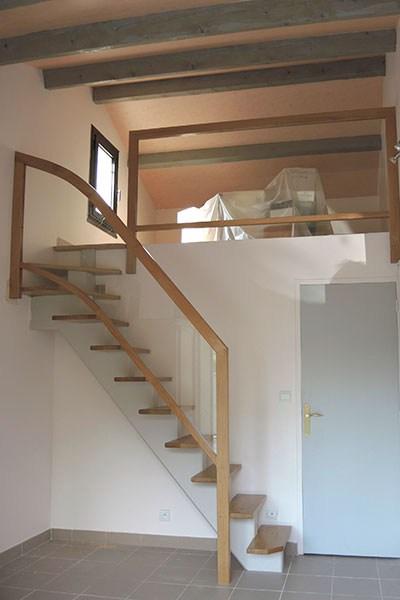 Quarter Turn Staircase Design Plans Using Free Software   Quarter Turn Staircase Design   Winder Staircase   Oak   Turning   Oval Shaped   Modern