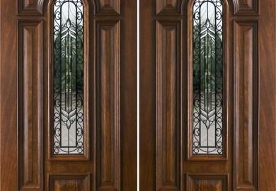 Double Wood Front Doors