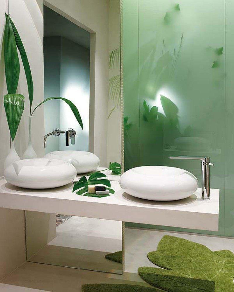 3integrer des plantes des plantes pour une salle de bains nature