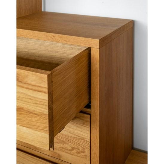 wooden bookcase, oak bookcase, modern bookcase