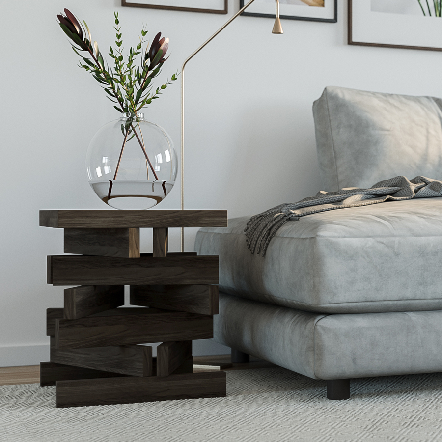 side table, table, wooden side table, birch side table