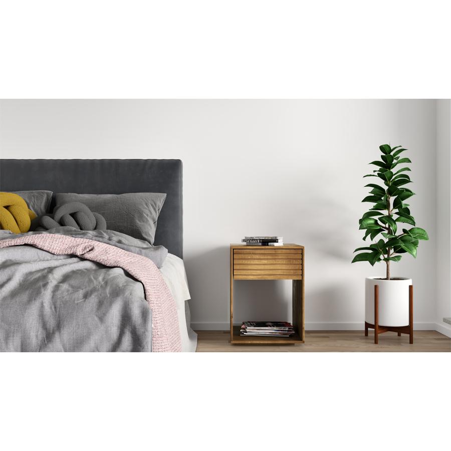 nightstand, wooden nightstand, oak nightstand