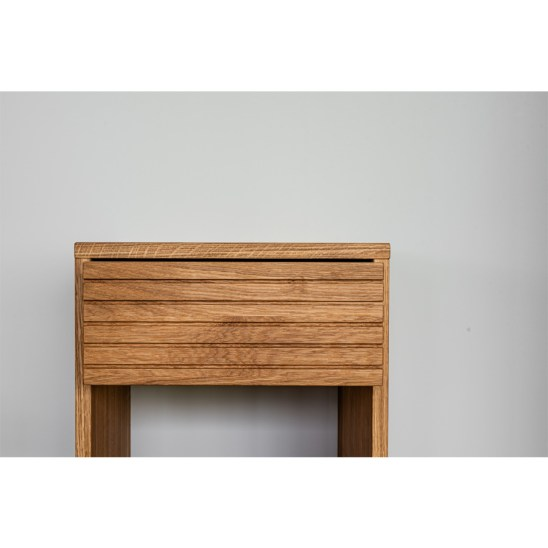 yöpöytä, modern nightstand, wooden nightstand, oak nightstand, wooden bedside table