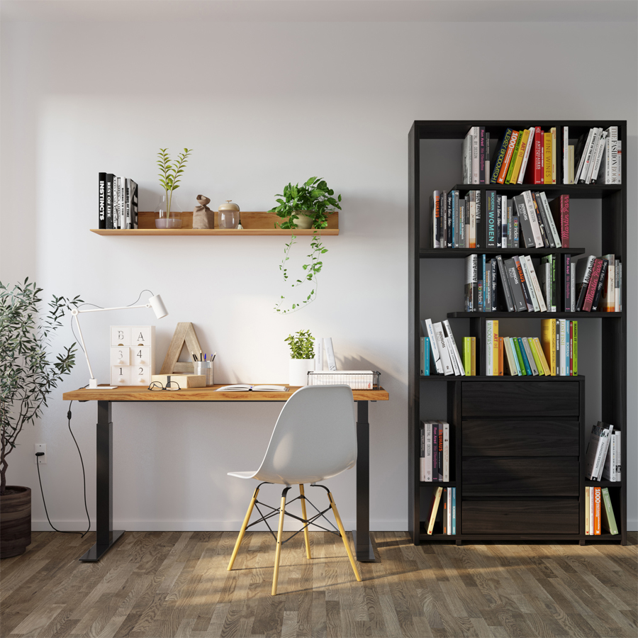 desk, writing desk, wooden desk, oak desk, electrical desk