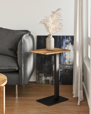 side table, wooden side table, table, oak side table