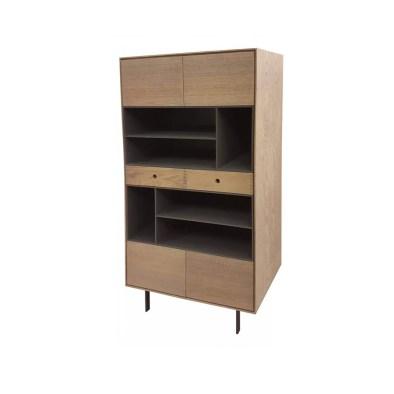 kirjahylly, bookcase, lipasto, wooden bookcase, oak bookcase