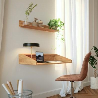 writing desk, wooden writing desk, oak writing desk, floating desk