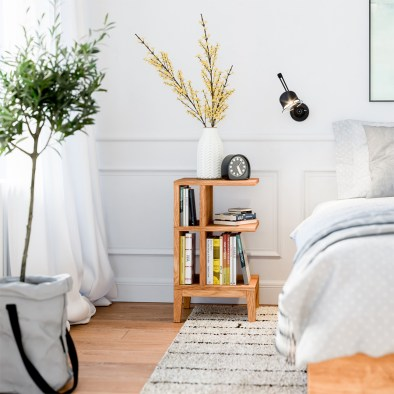 Nightstand, wooden nightstand, oak nightstand, bedside table, side table
