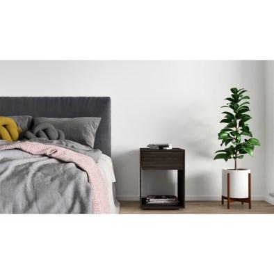 nightstand, wooden nightstand, black nightstand, birch nightstand, bedside table