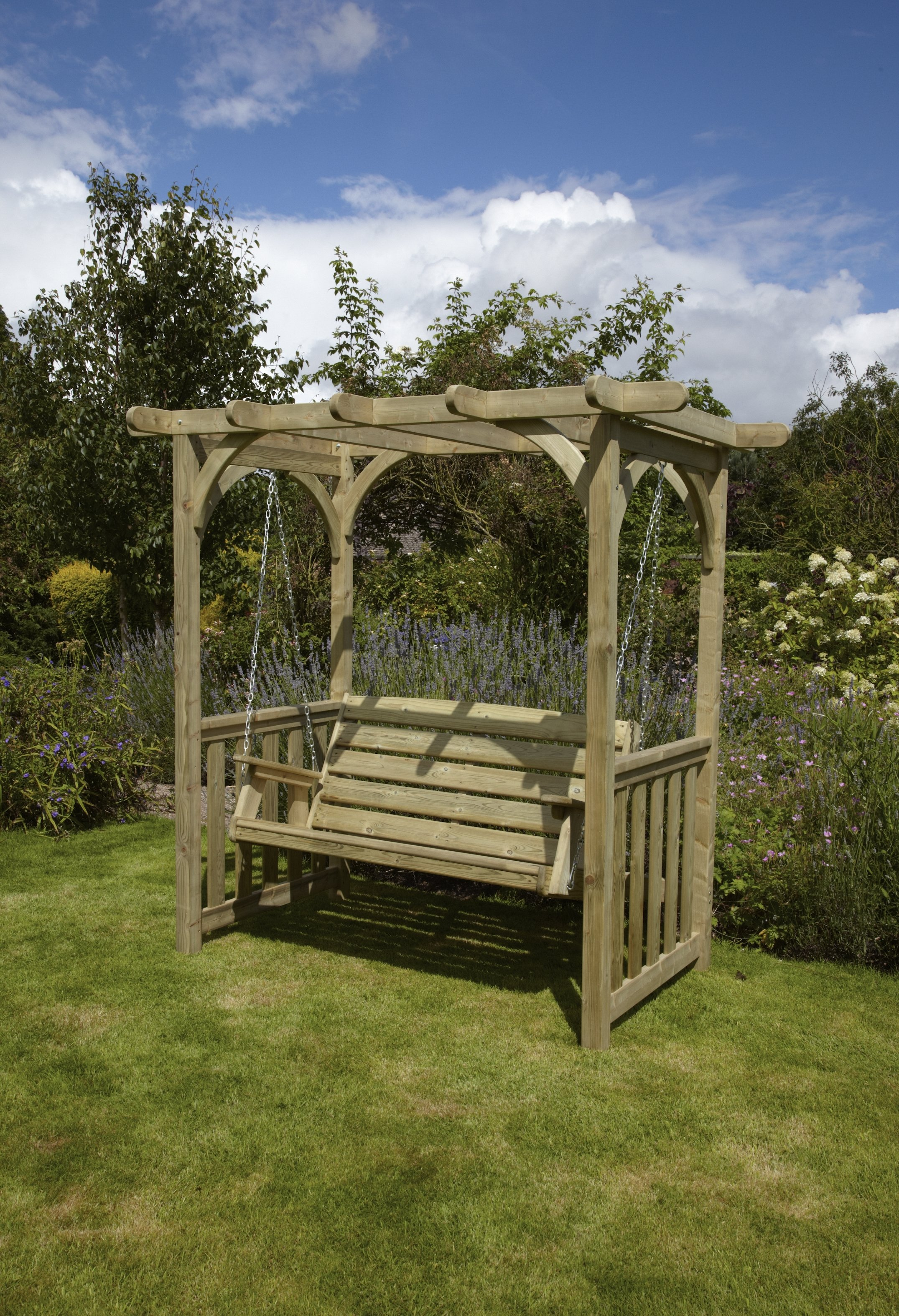 wooden garden chairs uk electric chair power supply anchor fast devon swing arbour simply wood
