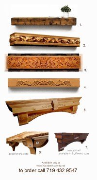 Wooden Accents - Hand Carved Wooden Mantels