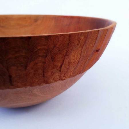 Hand Carved Wooden Bowl By Gavin Brunton Rim Detail