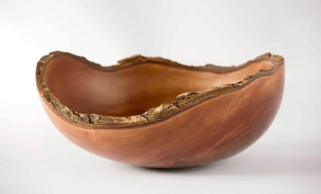 Pohutukawa Bark Rimmed Wooden Bowl