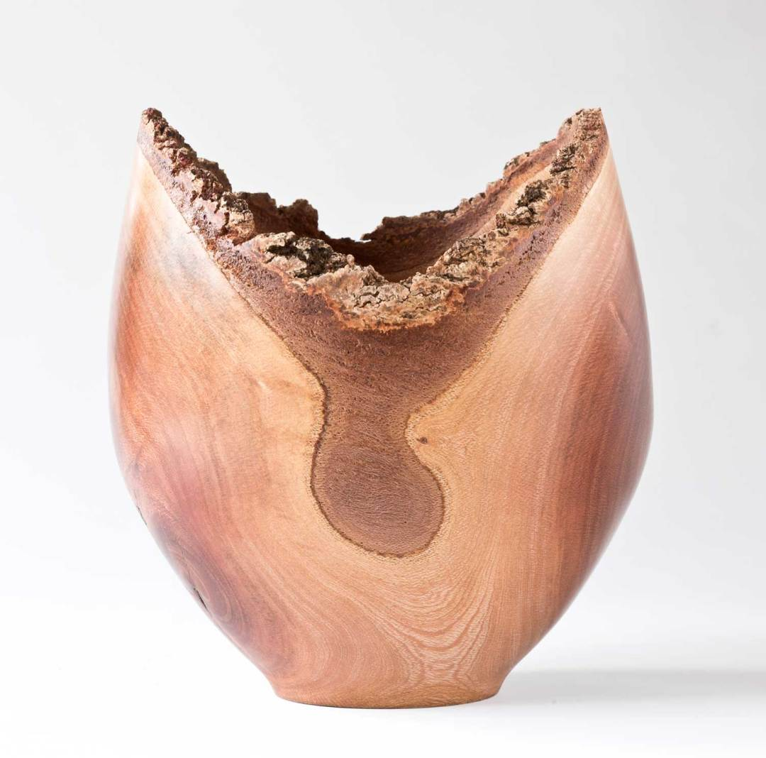 Three Legged Oak Wooden Bowl