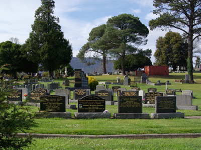 Woodend cemetery records