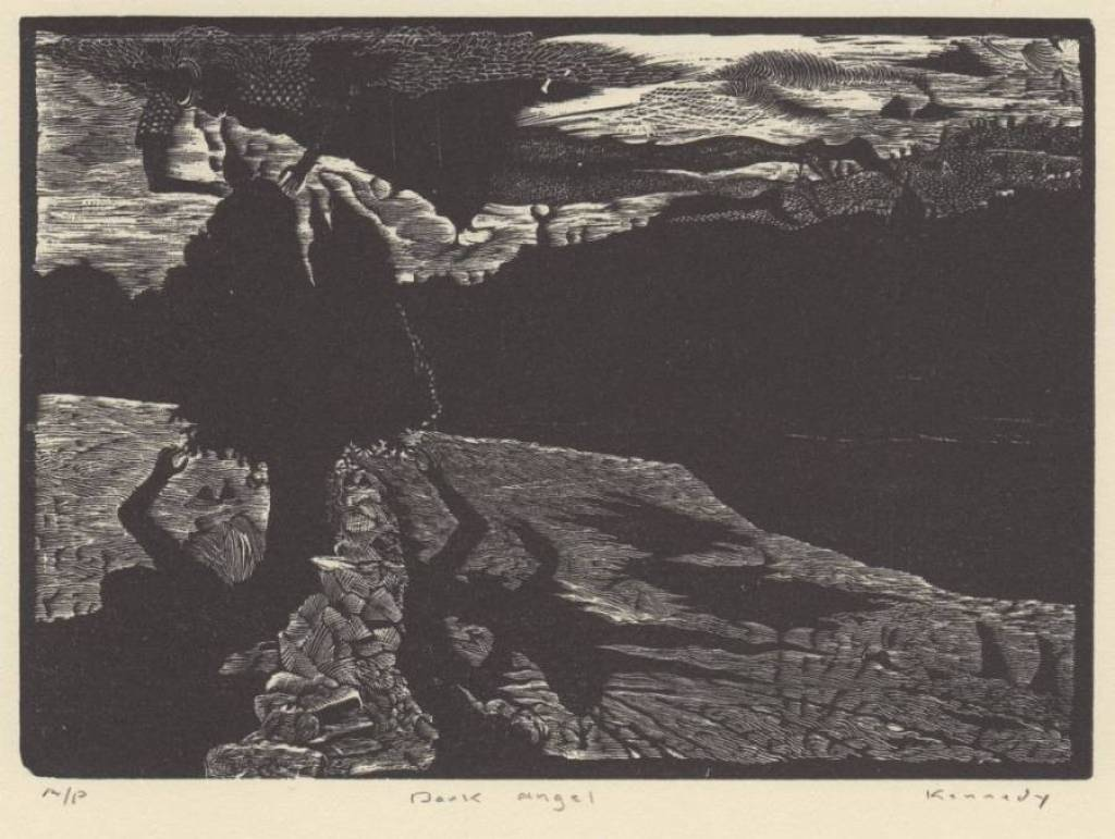 Dale Kennedy's Celestial and Surreal Engraving for March