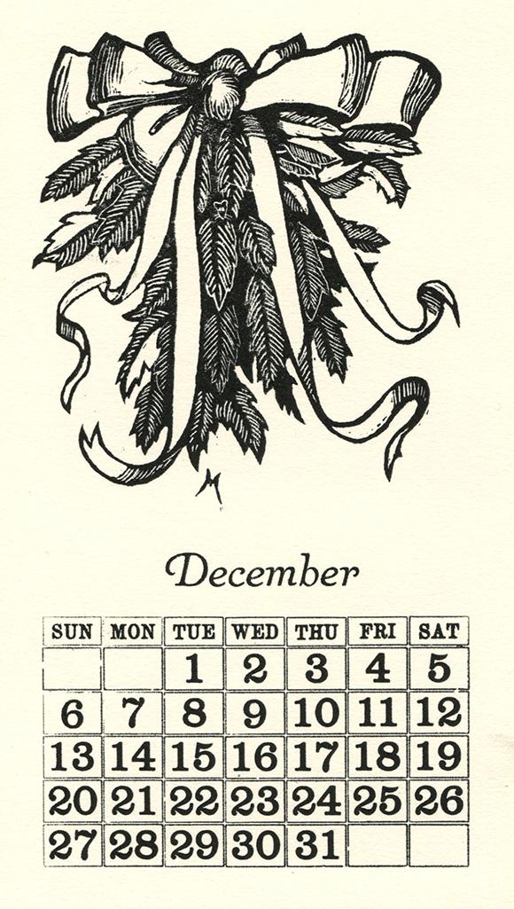 Festive December 2020 Calendar Page