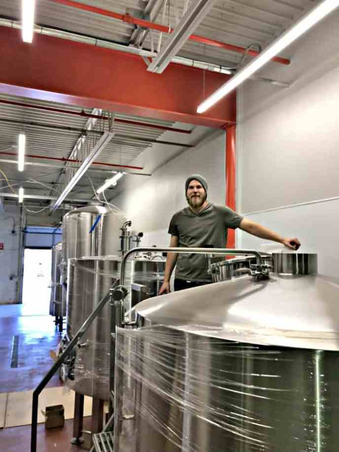 brewing equipment placed
