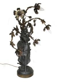 Art Nouveau Lady Lamp - Wooden Nickel Antiques