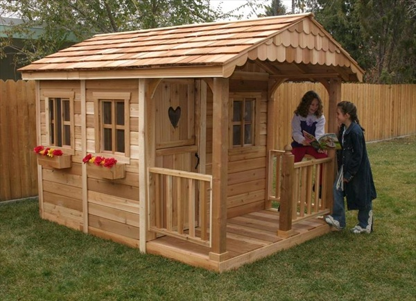 childrens outdoor playhouse plans