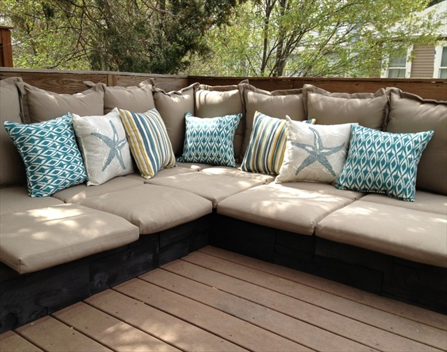 plans to build outdoor sectional sofa flexsteel leather reclining latitudes 7 beautiful and fascinating pallet couches | wooden ...