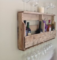 DIY Pallet Wine Rack Shelf | Wooden Pallet Furniture