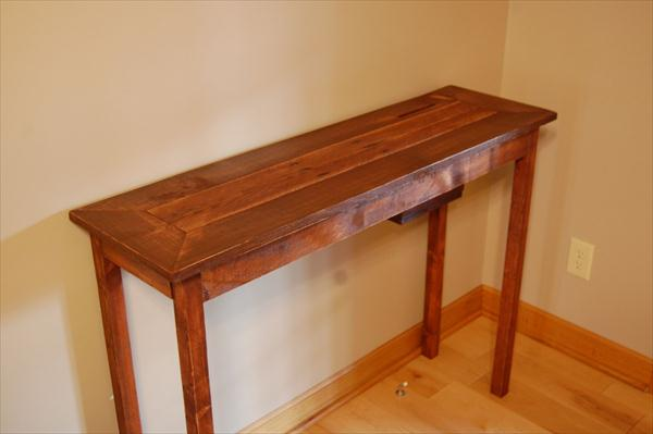 make a rustic sofa table purple uk diy pallet console wooden furniture