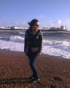 Kasia on the seaside